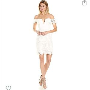 ASTR The Label Daniela white lace dress size M